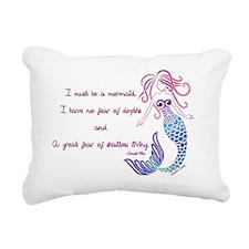 Tribal Mermaid Musings Rectangular Canvas Pillow