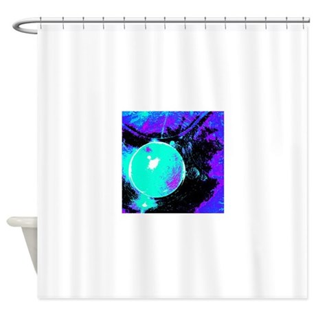 Teal Blue Black Purple Abstract Shower Curtain By Testingtesttess