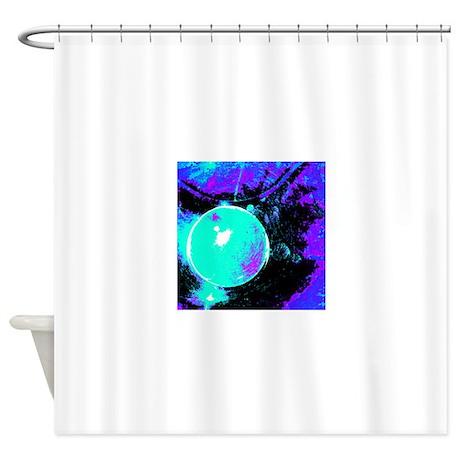 Crboger Teal Blue Shower Curtain