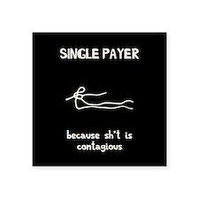 """Unisured Contagions Square Sticker 3"""" x 3"""""""