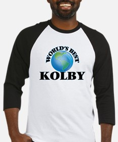World's Best Kolby Baseball Jersey