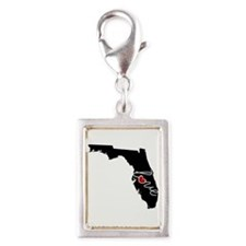 Florida Love Silver Portrait Charm
