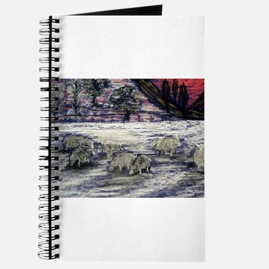 Sheep in winter Journal