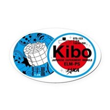 Kibo Sts-123 Oval Car Magnet