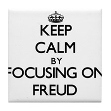 Keep Calm by focusing on Freud Tile Coaster