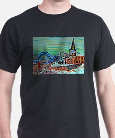 St Mary's and the Tyne Bridge in winter T-Shirt