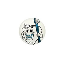 Brush Your Teeth Mini Button (100 pack)