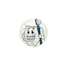 Brush Your Teeth Mini Button