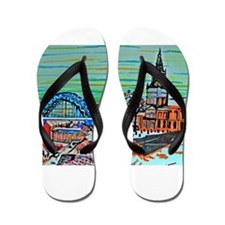 St Mary's and the Tyne Bridge in winter Flip Flops