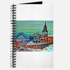 St Mary's and the Tyne Bridge in winter Journal