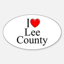 """""""I Love Lee County"""" Oval Decal"""