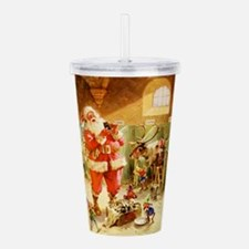 Santa in His North Pol Acrylic Double-wall Tumbler