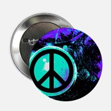 """Black Abstract Peace 2.25"""" Button"""
