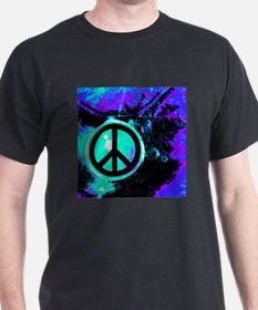 Black Abstract Peace T-Shirt