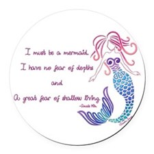 Tribal Mermaid Musings Round Car Magnet