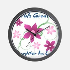 World's Greatest Daughter-In-Law (Flowe Wall Clock