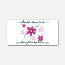World's Greatest Daughter-I Aluminum License Plate