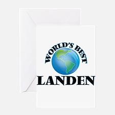 World's Best Landen Greeting Cards