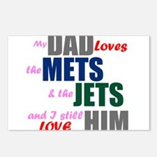 My Dad Loves the Mets & Jets Postcards (Package of