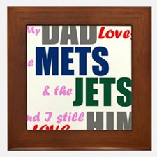My Dad Loves the Mets & Jets Framed Tile
