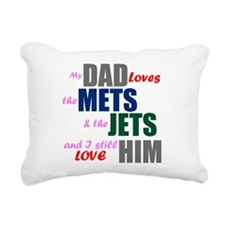 My Dad Loves the Mets & Jets Rectangular Canvas Pi