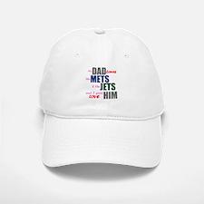 My Dad Loves the Mets & Jets Baseball Baseball Baseball Cap