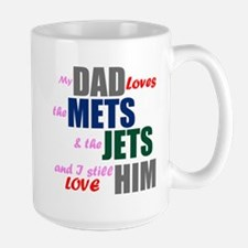 My Dad Loves the Mets & Jets Mugs