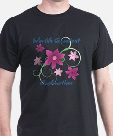 World's Greatest Godmother (Flowery) T-Shirt