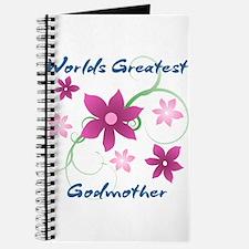 World's Greatest Godmother (Flowery) Journal