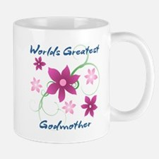 World's Greatest Godmother (Flowery) Mugs