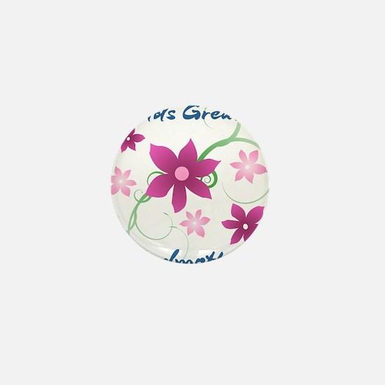 World's Greatest Godmother (Flowery) Mini Button