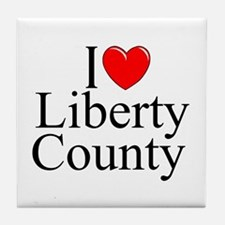 """I Love Liberty County"" Tile Coaster"