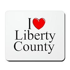 """""""I Love Liberty County"""" Mousepad"""