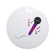 Musical Mic Ornament (Round)