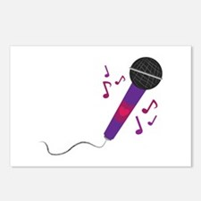 Musical Mic Postcards (Package of 8)