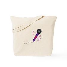 Musical Mic Tote Bag
