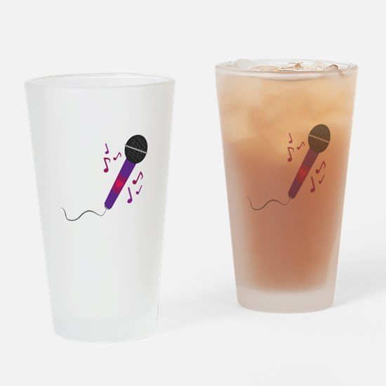 Musical Mic Drinking Glass