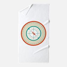 Nautical Compass Beach Towel