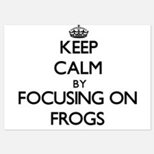 Keep Calm by focusing on Frogs Invitations