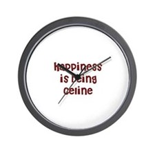 happiness is being Celine Wall Clock
