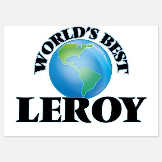 World's Best Leroy Invitations