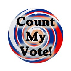 Count My Vote! Christmas Tree Ornament