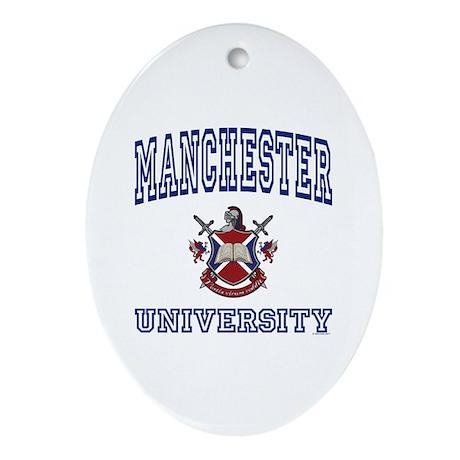 MANCHESTER University Oval Ornament