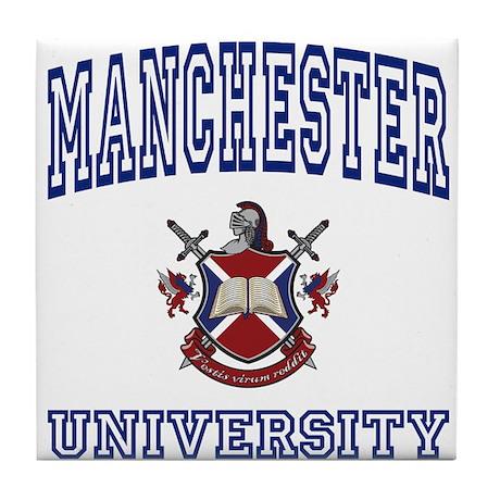 MANCHESTER University Tile Coaster