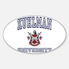 KUHLMAN University Oval Decal