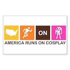 America Runs On Cosplay Decal