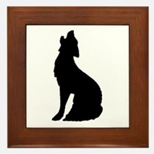 Howling Wolf Icon Framed Tile