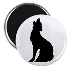 """Howling Wolf Icon 2.25"""" Magnet (100 pack)"""