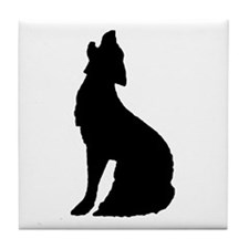Howling Wolf Icon Tile Coaster