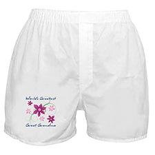 World's Greatest Great Grandma (Flowe Boxer Shorts